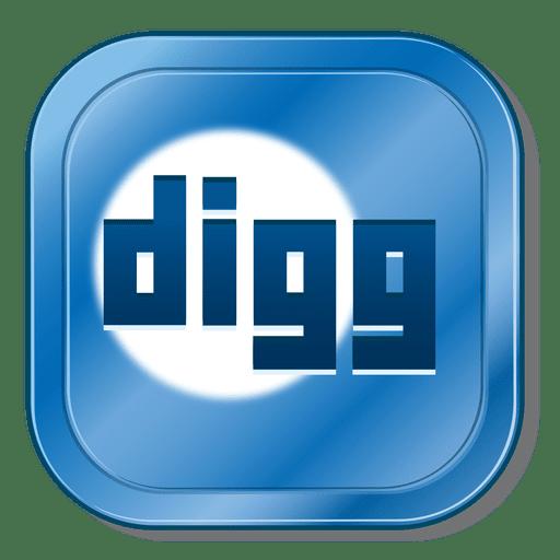 Digg metallic button Transparent PNG