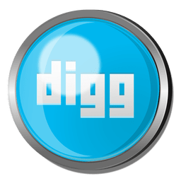 Digg round metal button