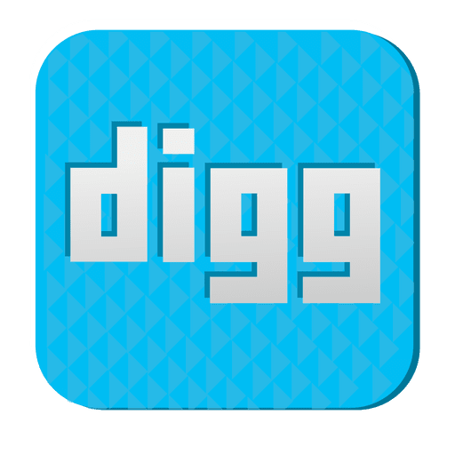 Digg rubber icon 1 Transparent PNG