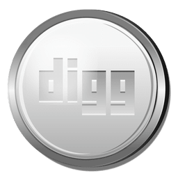 Digg silver circle icon