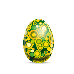 Ovo de Páscoa com padrão pontilhado