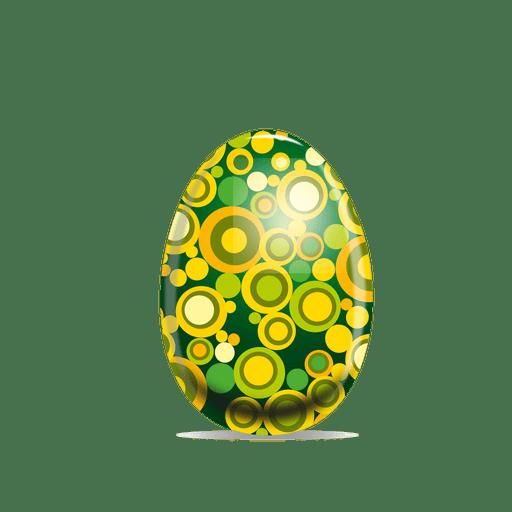 Huevo de Pascua de patr?n punteado
