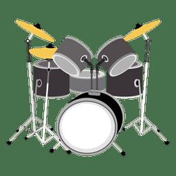 Desenhos animados de Drumset