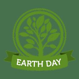 Etiqueta de plantación del día de la tierra
