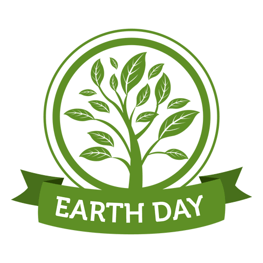 Earth day plantation label Transparent PNG