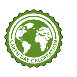 Earth day round badge