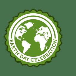 Emblema redondo do Dia da Terra
