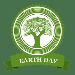 Distintivo de árvore do dia da terra