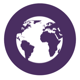 Earth round icon