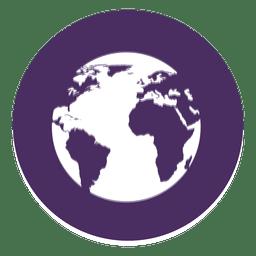 Erde rundes Symbol