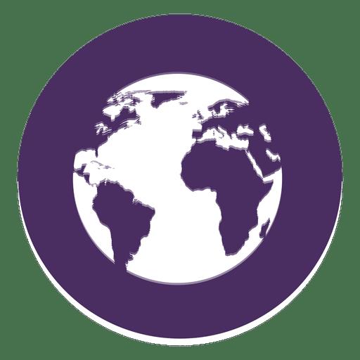 Erde rundes Symbol Transparent PNG