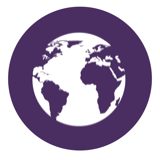 Icono redondo de la tierra Transparent PNG