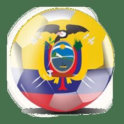 Futebol de bandeira do equador