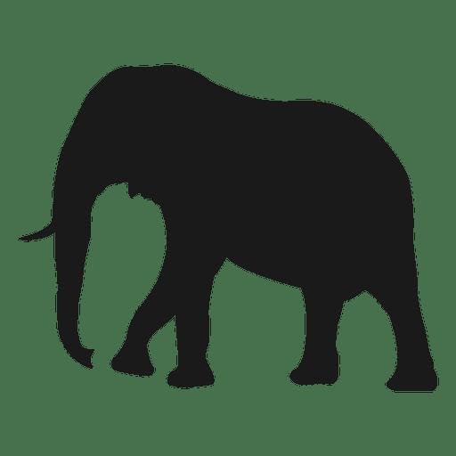Elefant-Silhouette Transparent PNG