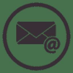 Design de ícone de círculo de e-mail