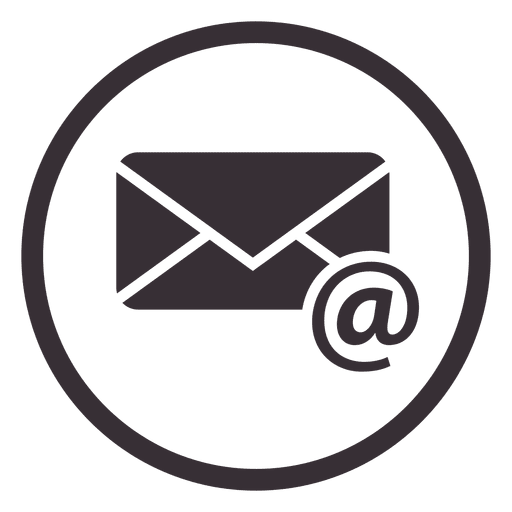 Diseño de icono de círculo de correo electrónico