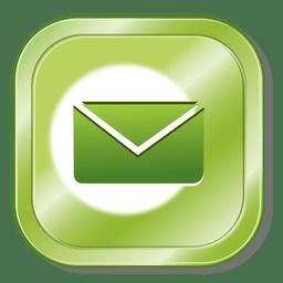 Botón metálico de correo electrónico