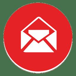 Ícone redondo de e-mail