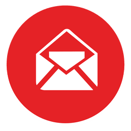 Icono de correo electrónico redondo