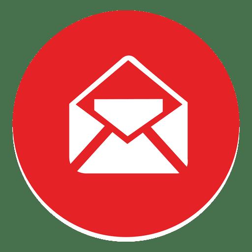 Icono de correo electrónico redondo Transparent PNG