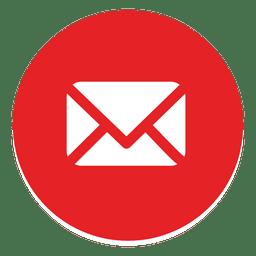 Ícone redondo de e-mail 1