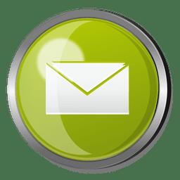 E-mail redondo botão de metal