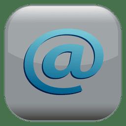 Botão quadrado de sinal de e-mail