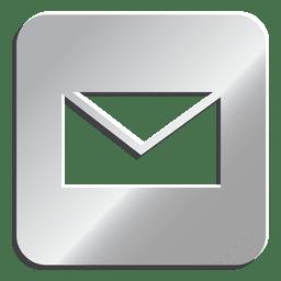 Icono de correo electrónico de plata