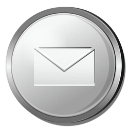 3D email silver icon