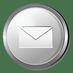 Icono 3D de correo electrónico de plata
