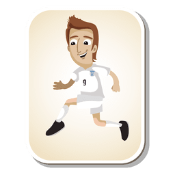 England football player cartoon