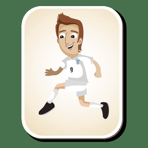 Dibujos animados de jugador de fútbol de Inglaterra Transparent PNG