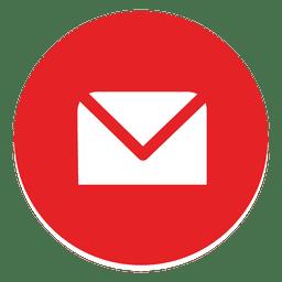 Envelop round icon