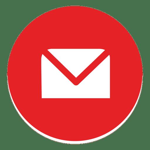Envelope redondo ícone Transparent PNG