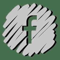 Icono distorsionado de Facebook