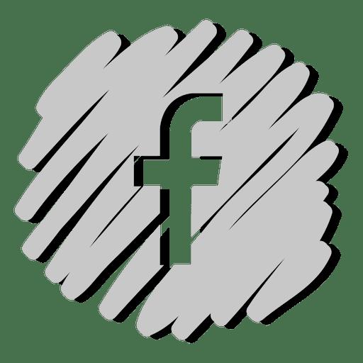 Facebook distorted icon