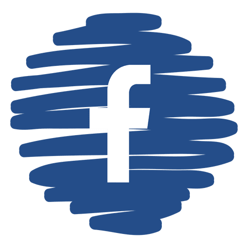 Facebook distorted round icon Transparent PNG