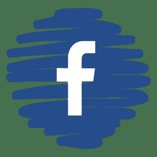 Ícone redondo distorcido do Facebook