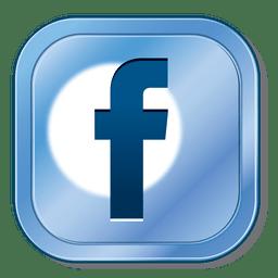 Botão metálico do Facebook