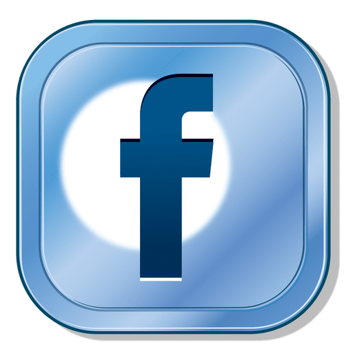 Facebook metallic button Transparent PNG