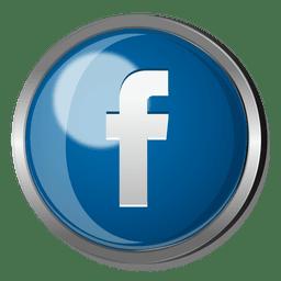 Facebook botón redondo de metal