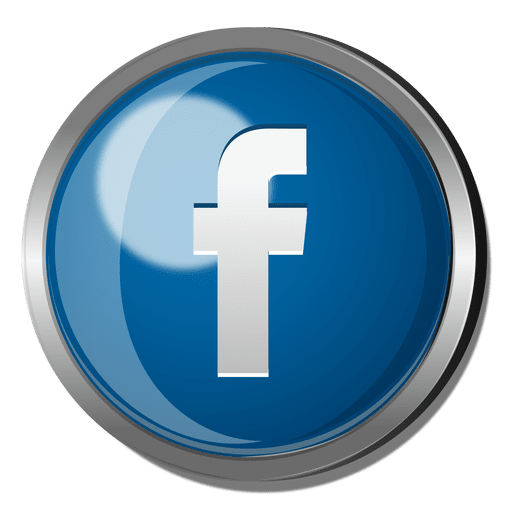 Facebook round metal button - Transparent PNG & SVG vector