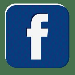 icono de caucho Facebook