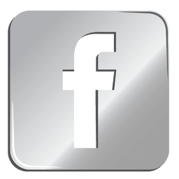 Facebook icono de plata