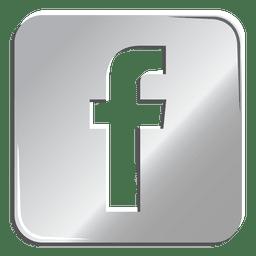 Ícone de prata do Facebook