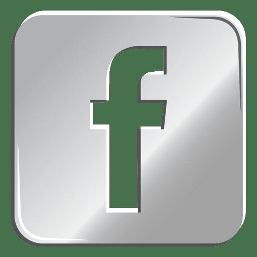 Facebook silberne Ikone