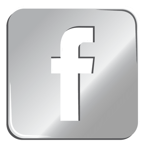 Facebook silver icon Transparent PNG