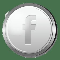 Facebook icono de plata 3D