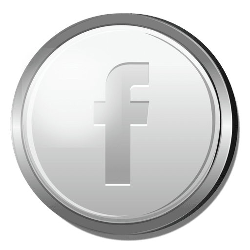 Facebook 3D silver icon Transparent PNG
