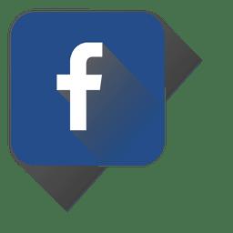 Icono cuadrado de facebook